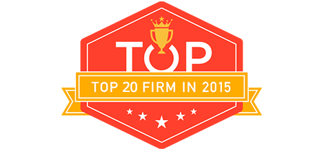 Top 20 Design firms Badge