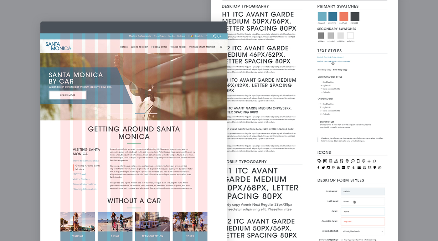 Website Grids and Style Guide