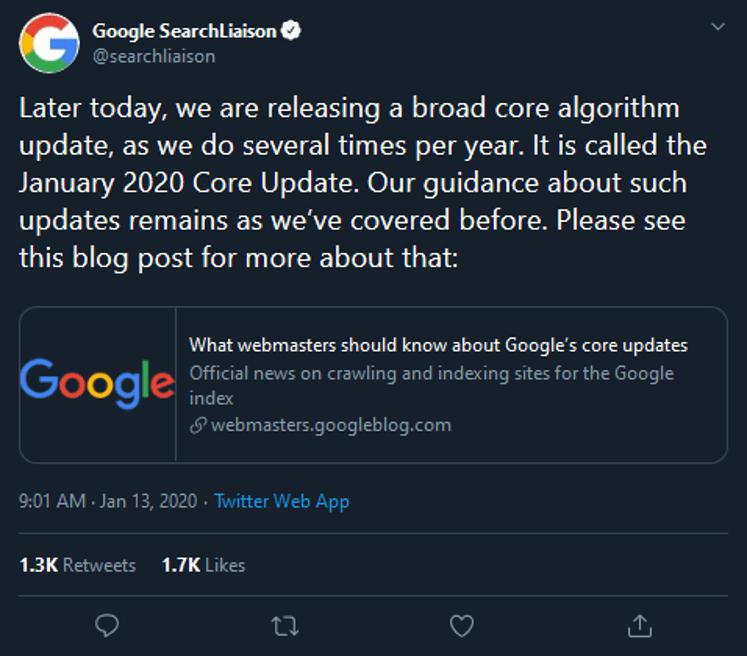 Google 2020 Core Update