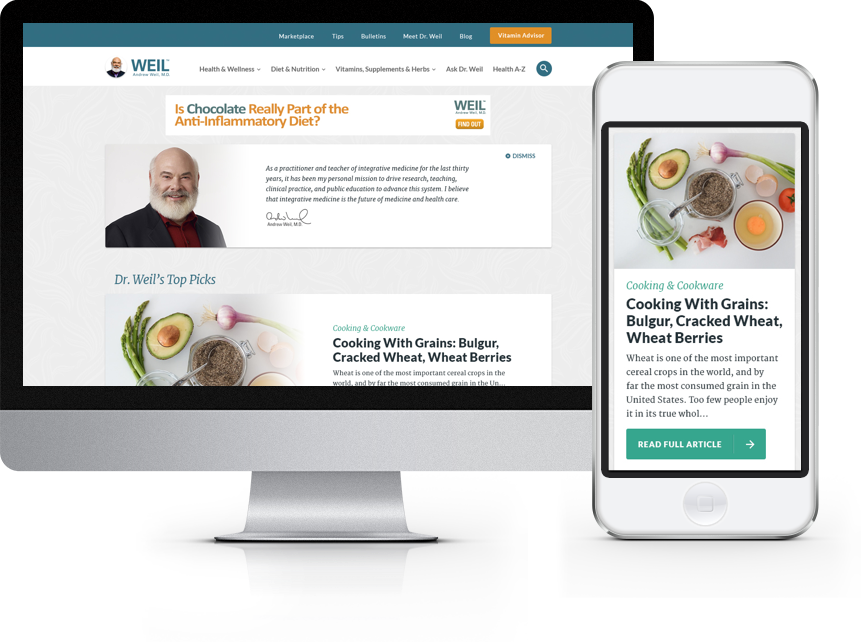 Dr Weil's Website Redesign