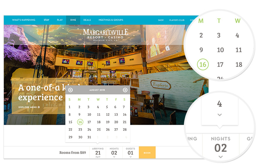 Margaritaville Booking Widget
