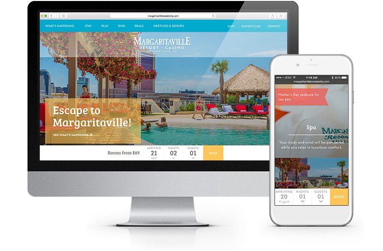 Margaritaville Responsive Website
